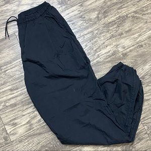 Vintage Nike Windbreaker Track Pants 90's Black L
